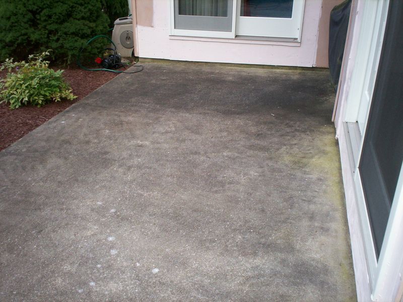 Hagerstown Concrete Patio Cleaning before