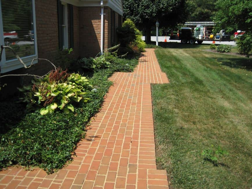 Hagerstown Brick Pavers AFTER pressure washing