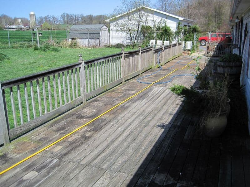 Hagerstown MD Treated Wood Deck Cleaning