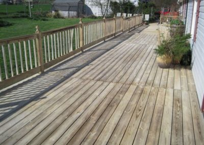 Hagerstown MD Wood Deck Cleaning AFTER