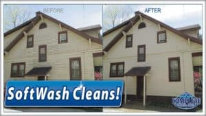 Softwash pressure washing in Hagerstown, MD