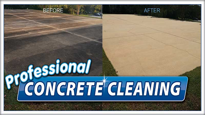 Concrete cleaning by Complete Power Wash in Hagerstown MD