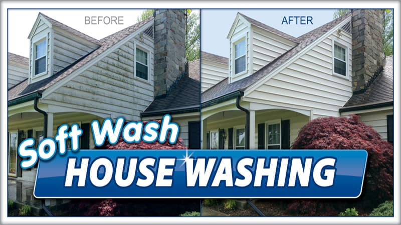 Softwash housing washing by Complete Power Wash in Hagerstown MD