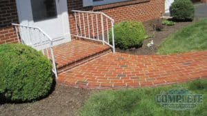Clean brick walk after pressure washing by Complete Power Wash in Hagerstown, MD