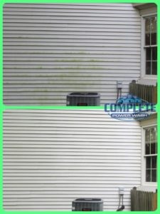 Before and After vinyl siding wash in Hagerstown, MD