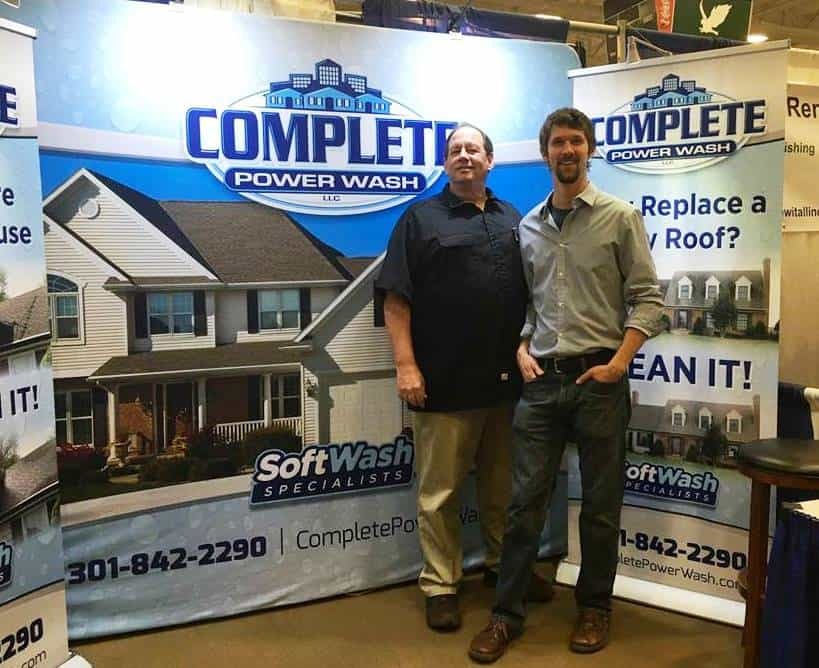 Tim and Zach Fields of Complete Power Wash in Hagerstown, MD at the HBA Home Show