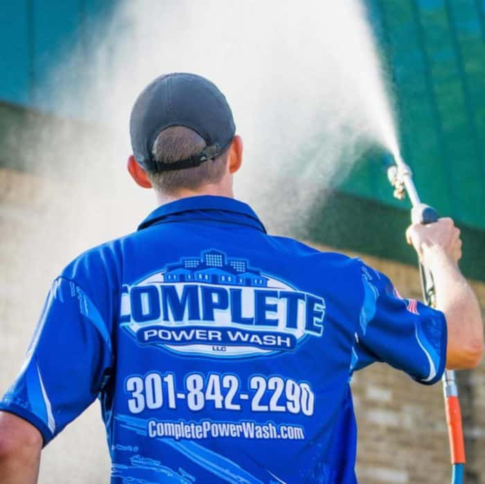 Complete Power Wash technician pressure washing in Hagerstown, MD