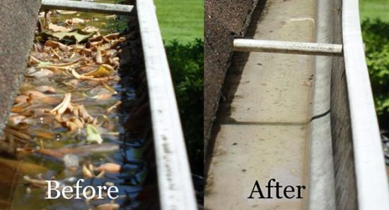 Gutter Cleaning in Hagerstown, MD by the pressure washing experts at Complete Power Wash