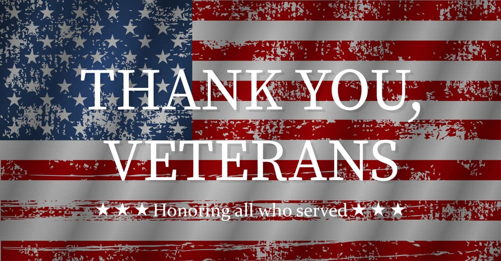 Thank You to Our Veterans on Veterans Day