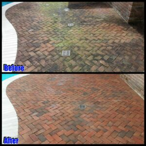 Pool deck cleaning by Complete Power Wash pressure washing company in Hagerstown, MD