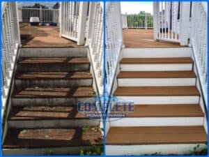 Pressure washing deck cleaning by Complete Power Washing in Hagerstown, MD