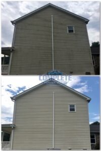 Pressure washing house cleaning by Complete Power Washing in Hagerstown, MD