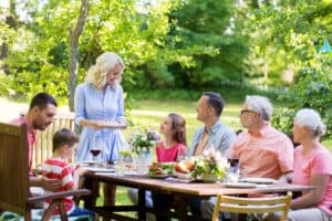 Outdoor gathering on deck or patio in Hagerstown, MD